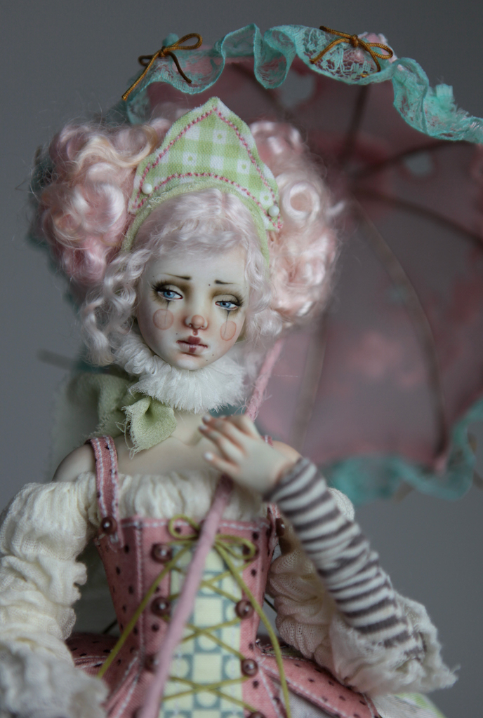 BJD Doll Ball Jointed Victorian Cotton Candy 39 15 Victorian Strawberry Clown Porcelain BJD Doll Eleven