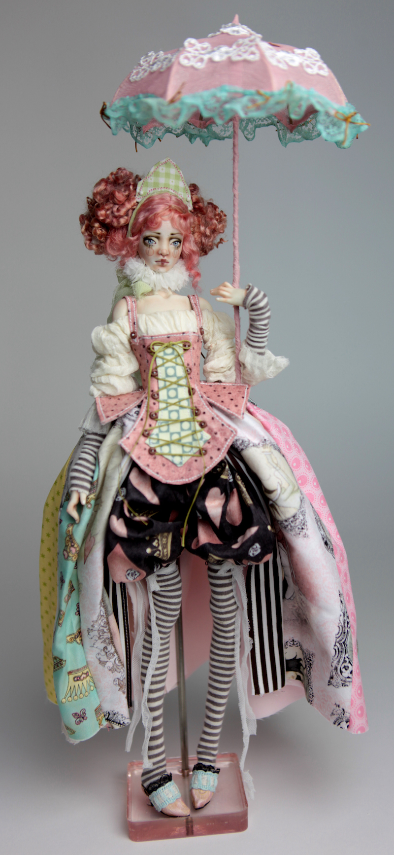BJD Doll Ball Jointed Victorian Cotton Candy 4 15 Victorian Strawberry Clown Porcelain BJD Doll Luna