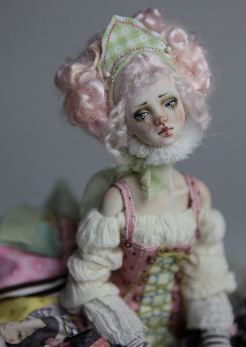 BJD Doll Ball Jointed Victorian Cotton Candy 46 15 Victorian Strawberry Clown Porcelain BJD Doll Eleven