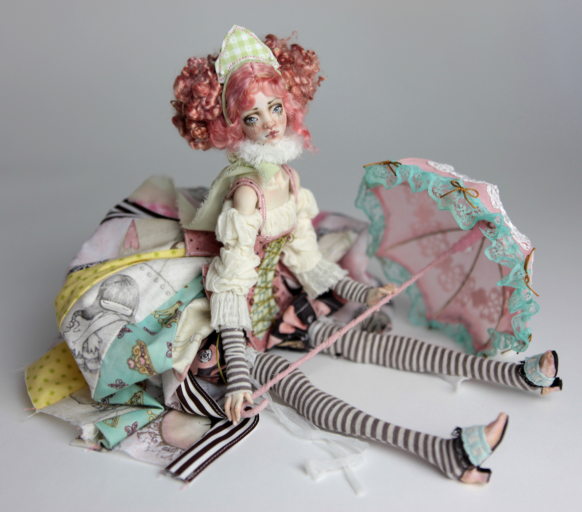 BJD Doll Ball Jointed Victorian Cotton Candy 7 15 Victorian Strawberry Clown Porcelain BJD Doll Luna