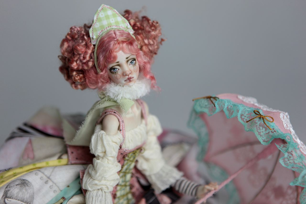 BJD Doll Ball Jointed Victorian Cotton Candy 8 15 Victorian Strawberry Clown Porcelain BJD Doll Luna