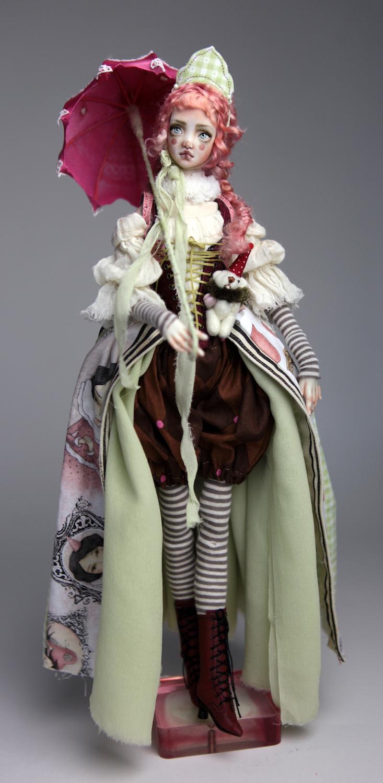 Porcelain BJD Dolls Victorian Strawberry41 15 Victorian Strawberry Clown Porcelain BJD Doll Echo