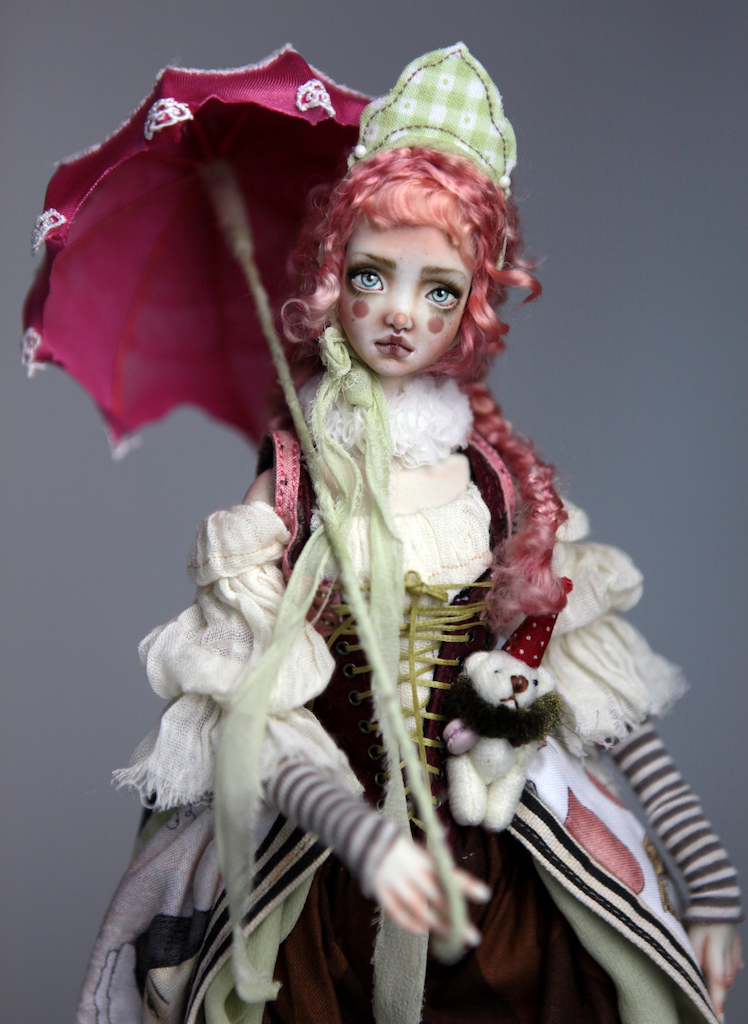 Porcelain BJD Dolls Victorian Strawberry42 15 Victorian Strawberry Clown Porcelain BJD Doll Echo