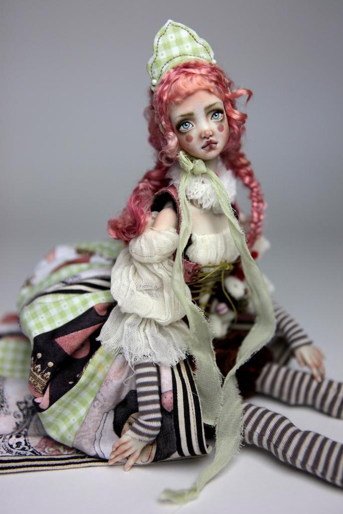 Porcelain BJD Dolls Victorian Strawberry67 15 Victorian Strawberry Clown Porcelain BJD Doll Echo