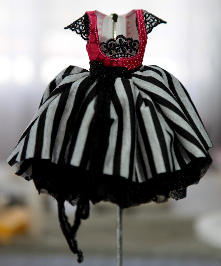 BJD Doll Ball Jointed Victorian Corset Candy Goth Dress 14 1 Candy Goth Dress #8