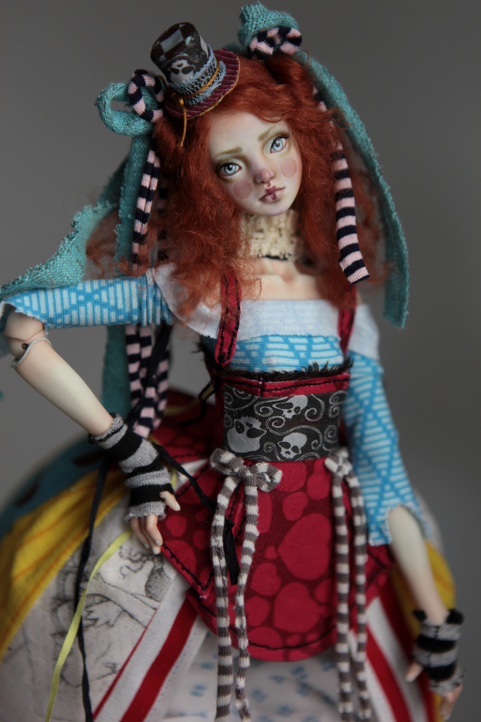 BJD Doll Ball Jointed Victorian Red Skulls 19 15 Victorian Red Skulls Porcelain BJD Doll Sphinx