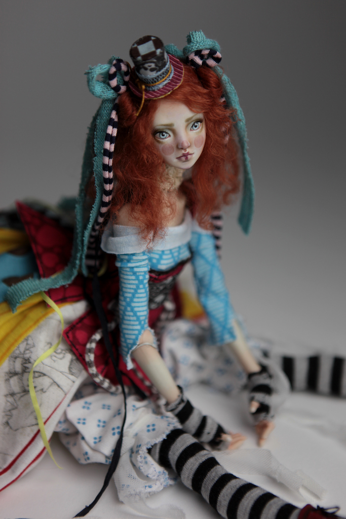 BJD Doll Ball Jointed Victorian Red Skulls 21 15 Victorian Red Skulls Porcelain BJD Doll Sphinx