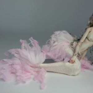Cotton Candy Mermaid BJD Doll Ball Jointed Forgotten Hearts FHDolls Rose Gold Wig 1 300x300 Pandora & Zelda
