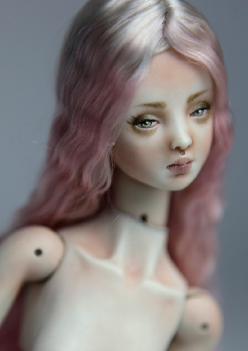 Cotton Candy Mermaid BJD Doll Ball Jointed Forgotten Hearts FHDolls Rose Gold Wig 13 15 Cotton Candy Eleven Nude