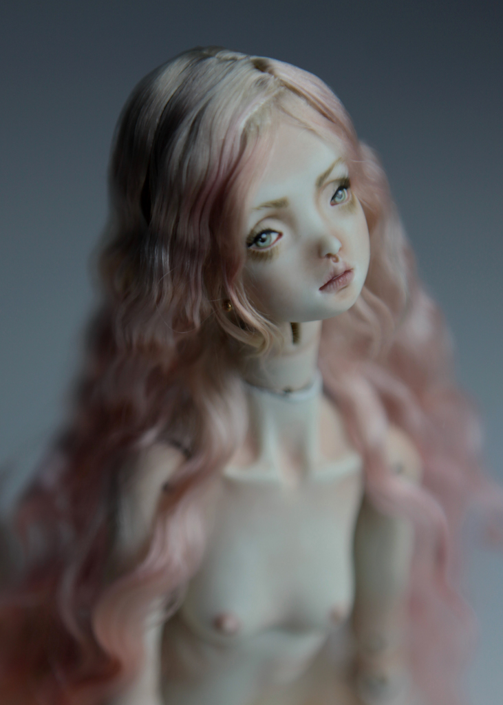 Cotton Candy Mermaid BJD Doll Ball Jointed Forgotten Hearts FHDolls Rose Gold Wig 3 2 15 Cotton Candy Lilly Nude