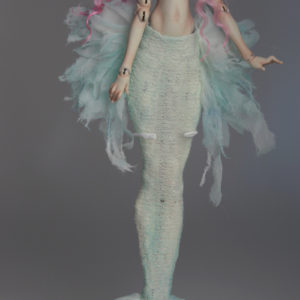 Cotton Candy Mermaid BJD Doll Ball Jointed Forgotten Hearts FHDolls Rose Gold Wig 5 1 300x300 Fine Art Couture