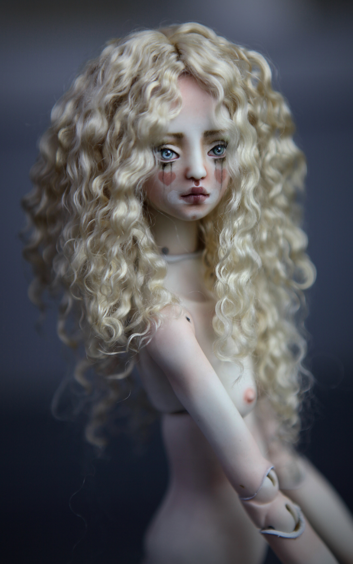 CGM Curly Girl Method Wigs BJD Doll Ball Jointed Forgotten Hearts Party Hats Clown Hats FHDolls 29 5 Premium Angora Mohair Wig #11