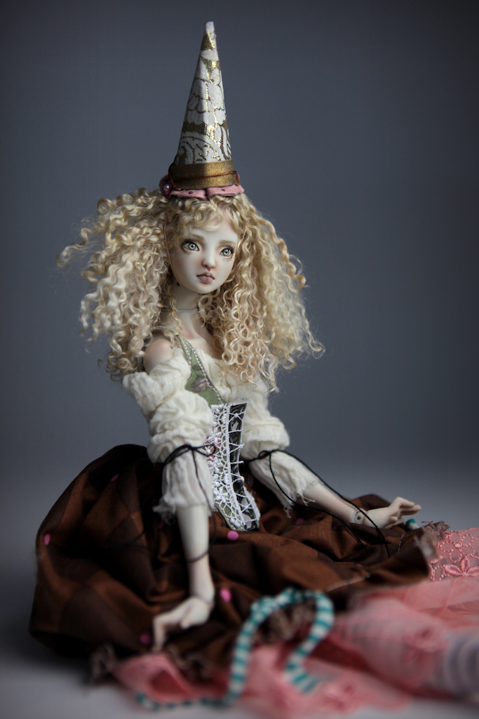 CGM Curly Girl Method Wigs BJD Doll Ball Jointed Forgotten Hearts Party Hats Clown Hats FHDolls 33 1 Porcelain BJD Dolls | Forgotten Hearts Dolls