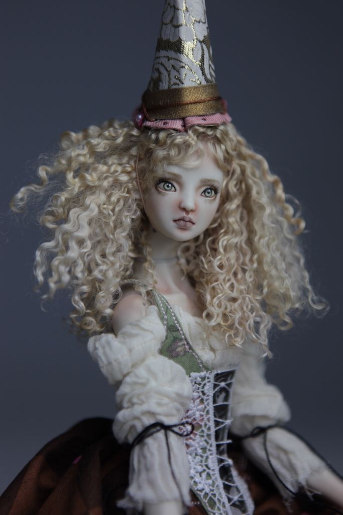 CGM Curly Girl Method Wigs BJD Doll Ball Jointed Forgotten Hearts Party Hats Clown Hats FHDolls 34 Premium Angora Mohair Wig #5