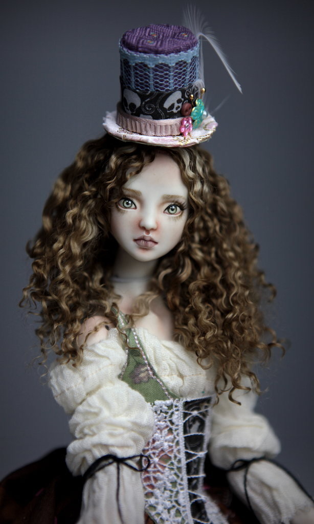 CGM Curly Girl Method Wigs BJD Doll Ball Jointed Forgotten Hearts Party Hats Clown Hats FHDolls 36 Premium Angora Mohair Wig #7