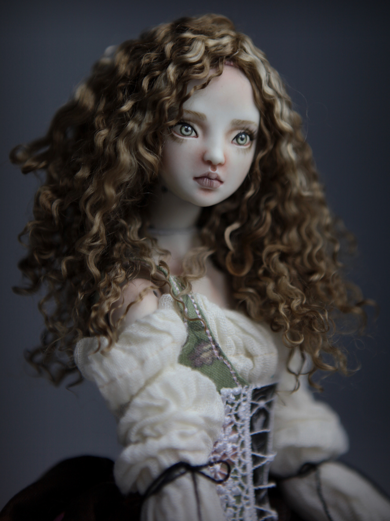 CGM Curly Girl Method Wigs BJD Doll Ball Jointed Forgotten Hearts Party Hats Clown Hats FHDolls 38 Premium Angora Mohair Wig #7