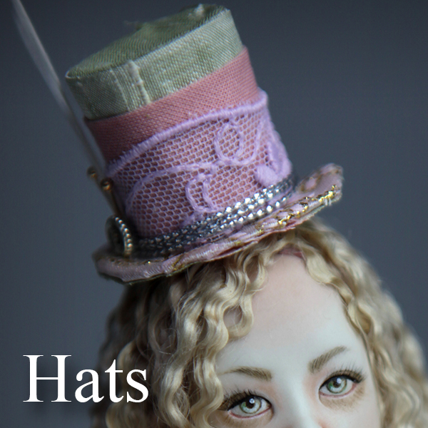 Hats Porcelain BJD Dolls | Forgotten Hearts Dolls