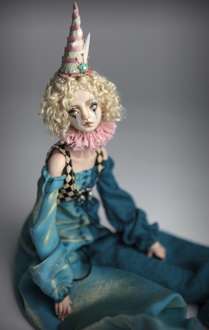 Clown Harlequin BJD Doll Ball Jointed Forgotten Hearts Party Hats Clown Hats FHDolls 30 15 Clown Harlequin Renaissance