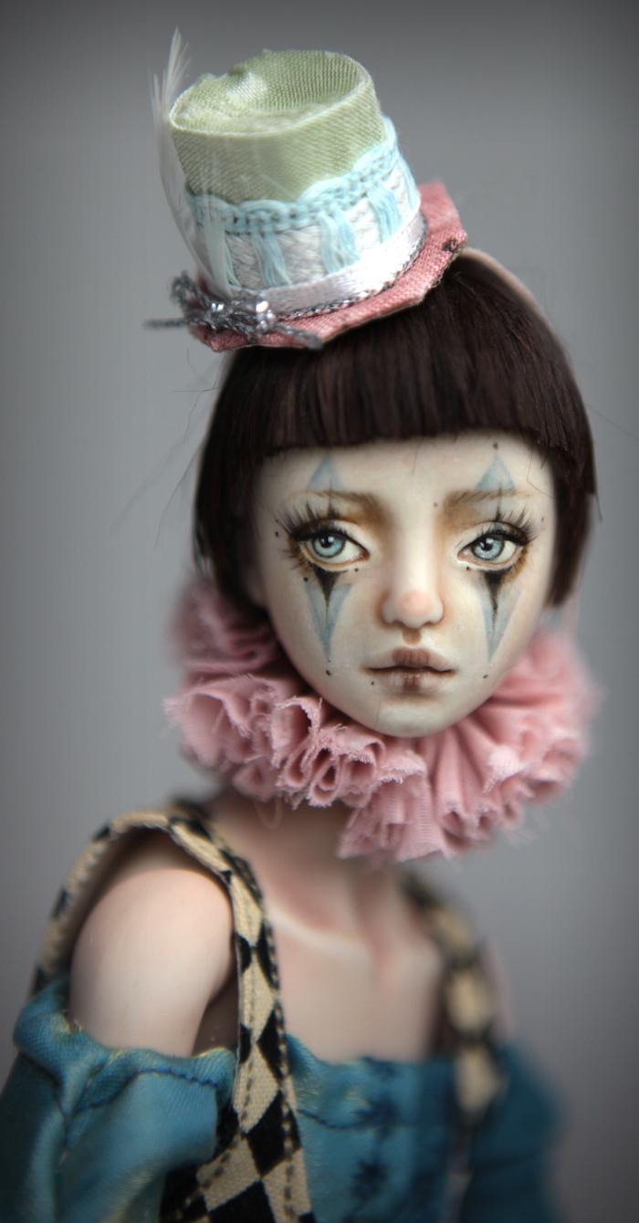 Clown Harlequin BJD Doll Ball Jointed Forgotten Hearts Party Hats Clown Hats FHDolls 35 15 Clown Harlequin Renaissance