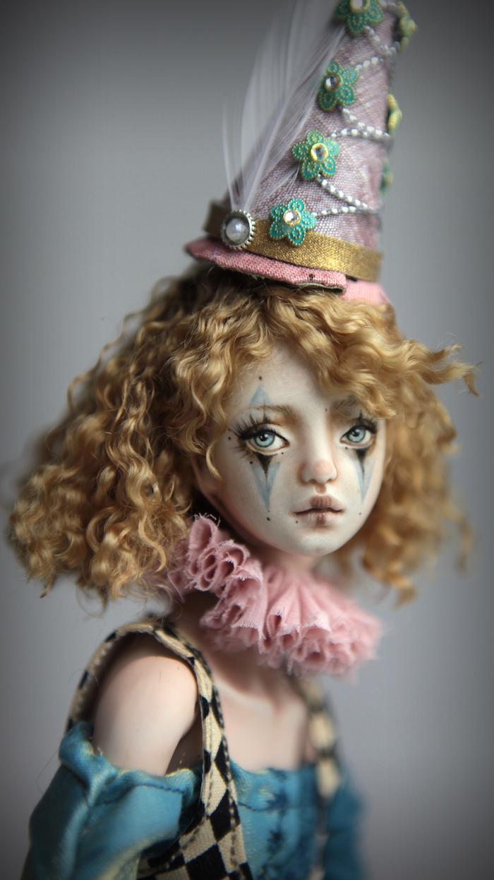 Clown Harlequin BJD Doll Ball Jointed Forgotten Hearts Party Hats Clown Hats FHDolls 36 15 Clown Harlequin Renaissance
