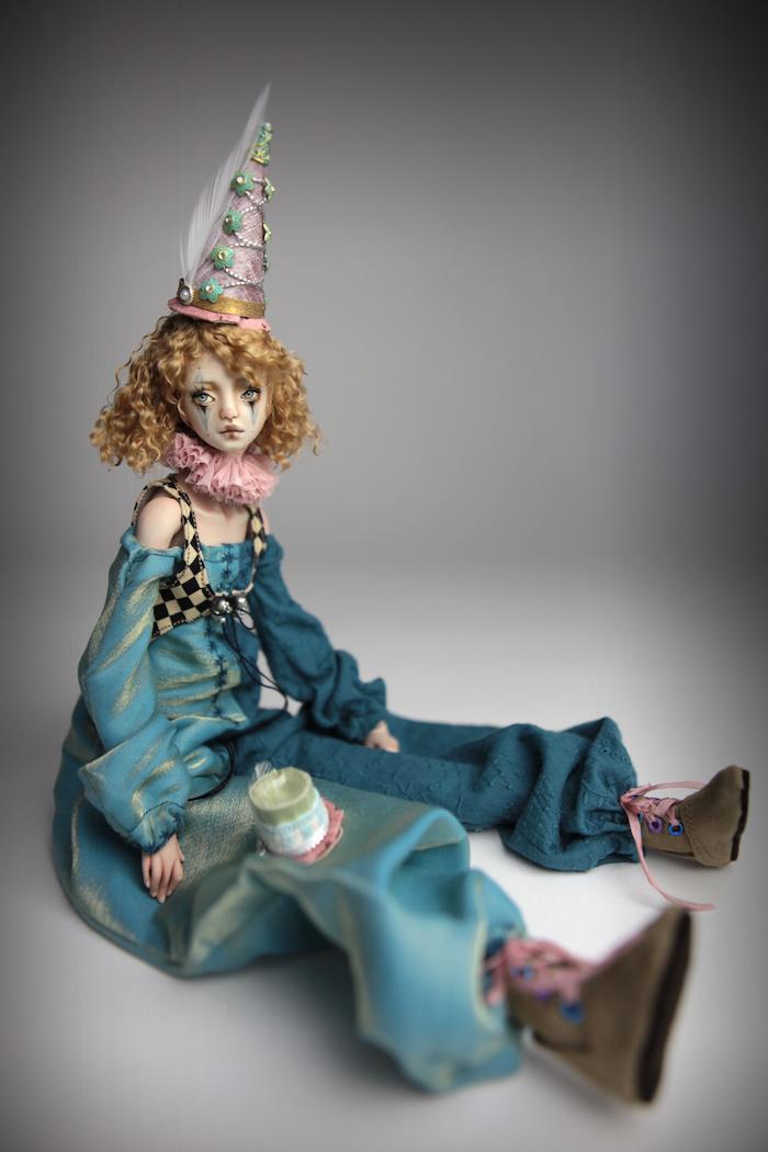 Clown Harlequin BJD Doll Ball Jointed Forgotten Hearts Party Hats Clown Hats FHDolls 38 15 Clown Harlequin Renaissance