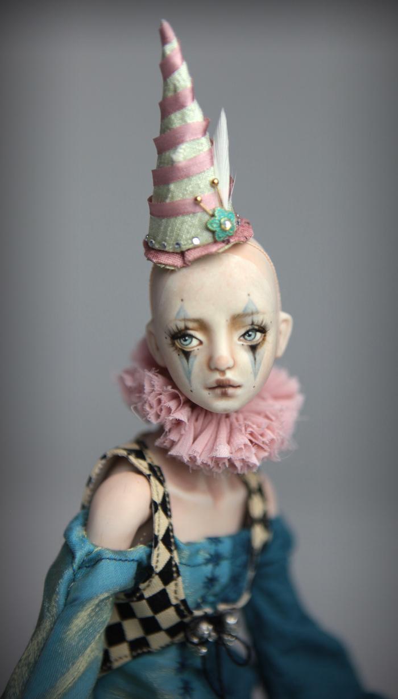Clown Harlequin BJD Doll Ball Jointed Forgotten Hearts Party Hats Clown Hats FHDolls 39 15 Clown Harlequin Renaissance