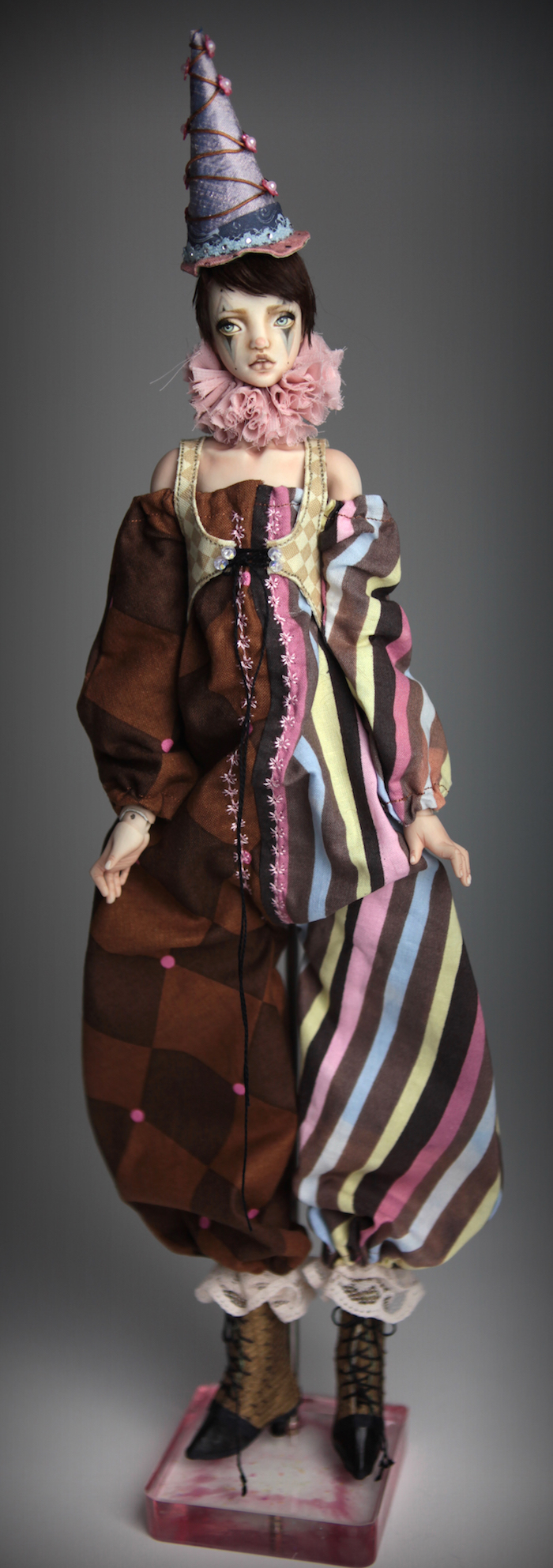 Clown Harlequin BJD Doll Ball Jointed Forgotten Hearts Party Hats Clown Hats FHDolls 40 15 Clown Harlequin Alice