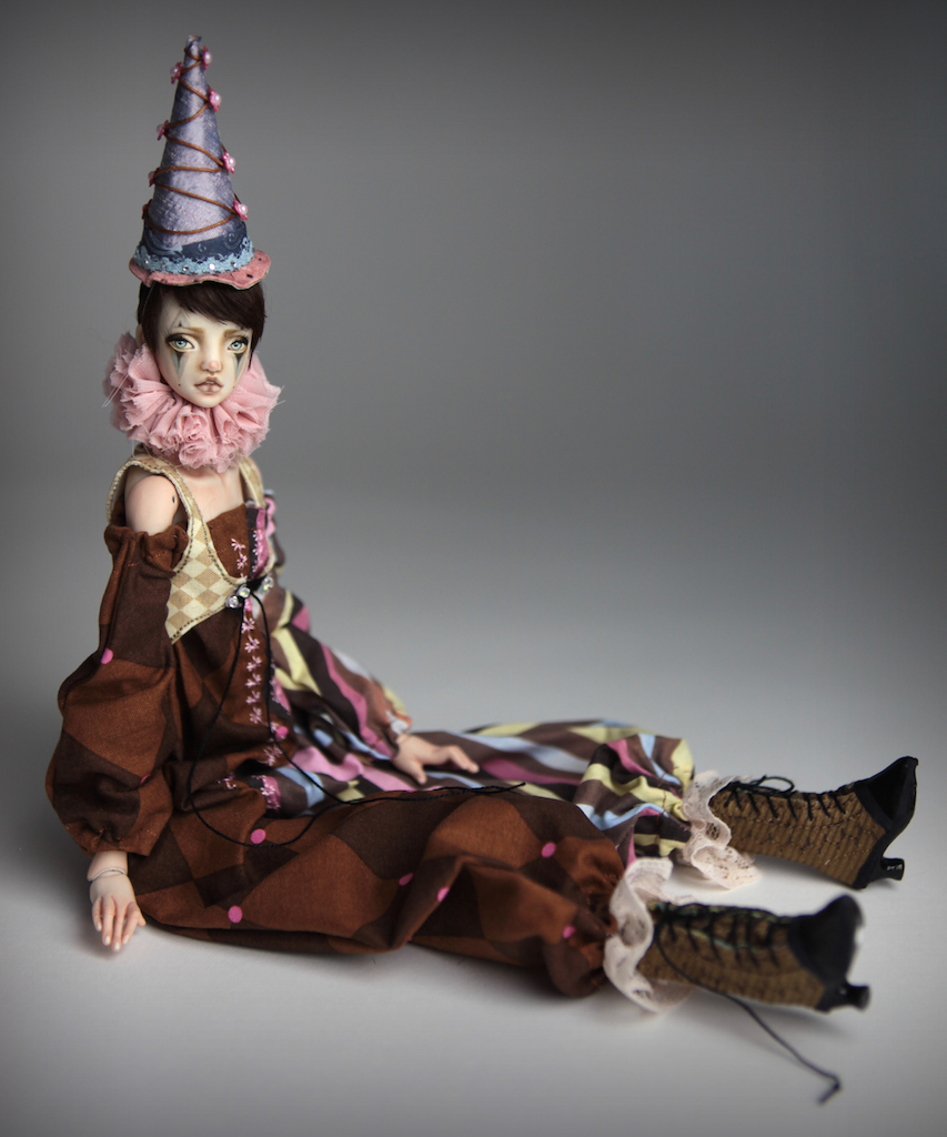 Clown Harlequin BJD Doll Ball Jointed Forgotten Hearts Party Hats Clown Hats FHDolls 41 15 Clown Harlequin Alice