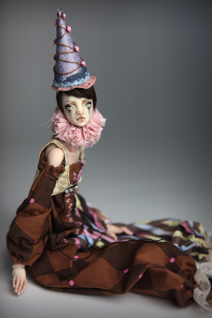 Clown Harlequin BJD Doll Ball Jointed Forgotten Hearts Party Hats Clown Hats FHDolls 42 15 Clown Harlequin Alice