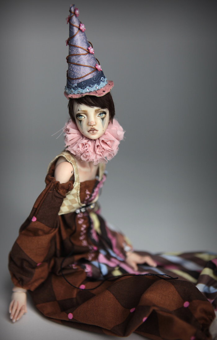 Clown Harlequin BJD Doll Ball Jointed Forgotten Hearts Party Hats Clown Hats FHDolls 43 15 Clown Harlequin Alice