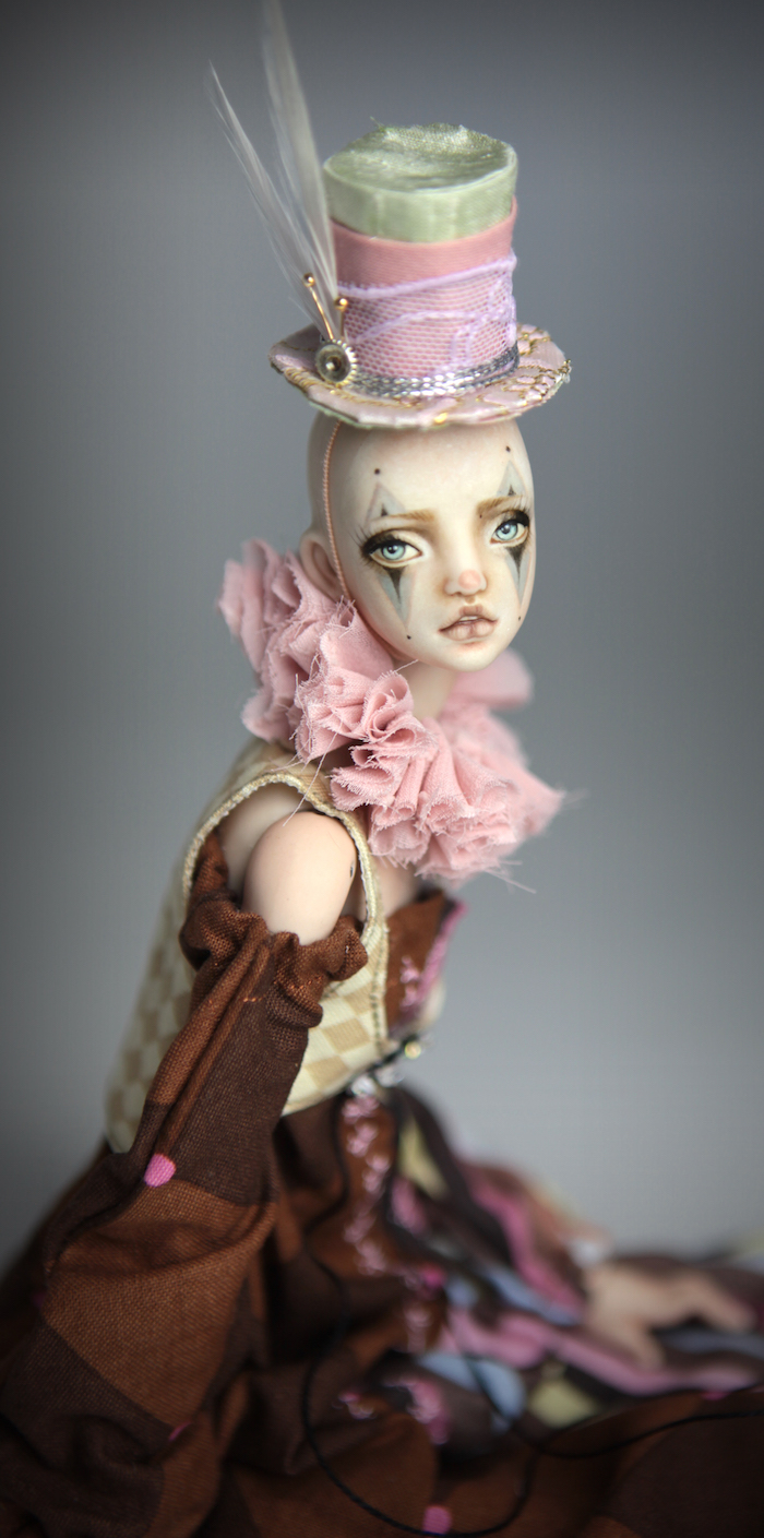 Clown Harlequin BJD Doll Ball Jointed Forgotten Hearts Party Hats Clown Hats FHDolls 45 15 Clown Harlequin Alice