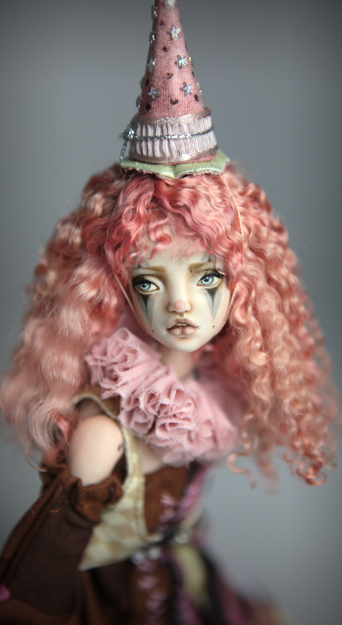 Clown Harlequin BJD Doll Ball Jointed Forgotten Hearts Party Hats Clown Hats FHDolls 50 15 Clown Harlequin Alice