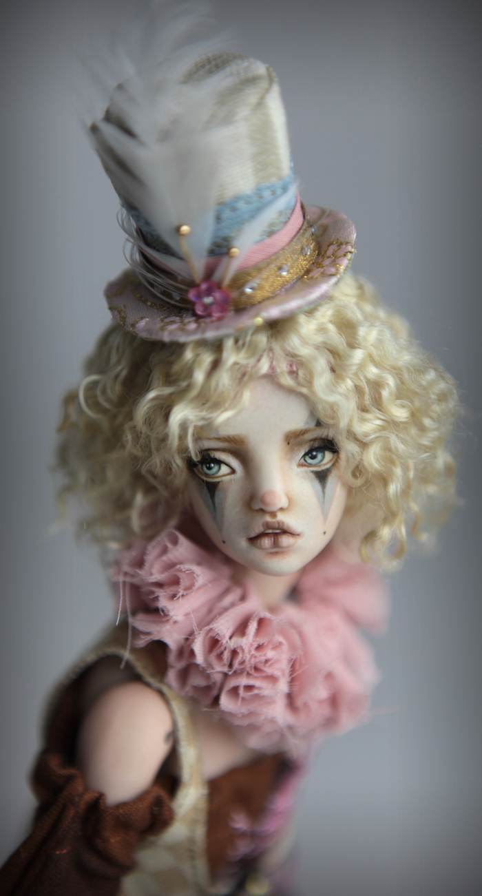 Clown Harlequin BJD Doll Ball Jointed Forgotten Hearts Party Hats Clown Hats FHDolls 52 15 Clown Harlequin Alice