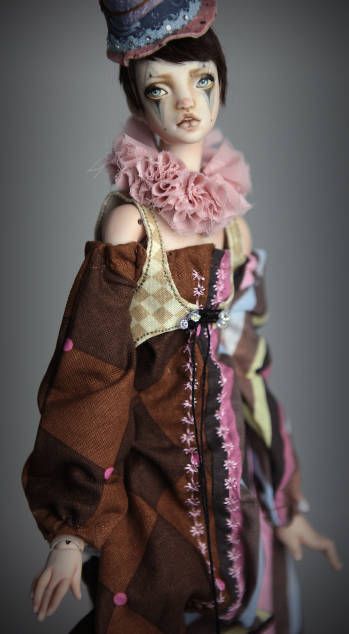Clown Harlequin BJD Doll Ball Jointed Forgotten Hearts Party Hats Clown Hats FHDolls 55 15 Clown Harlequin Alice
