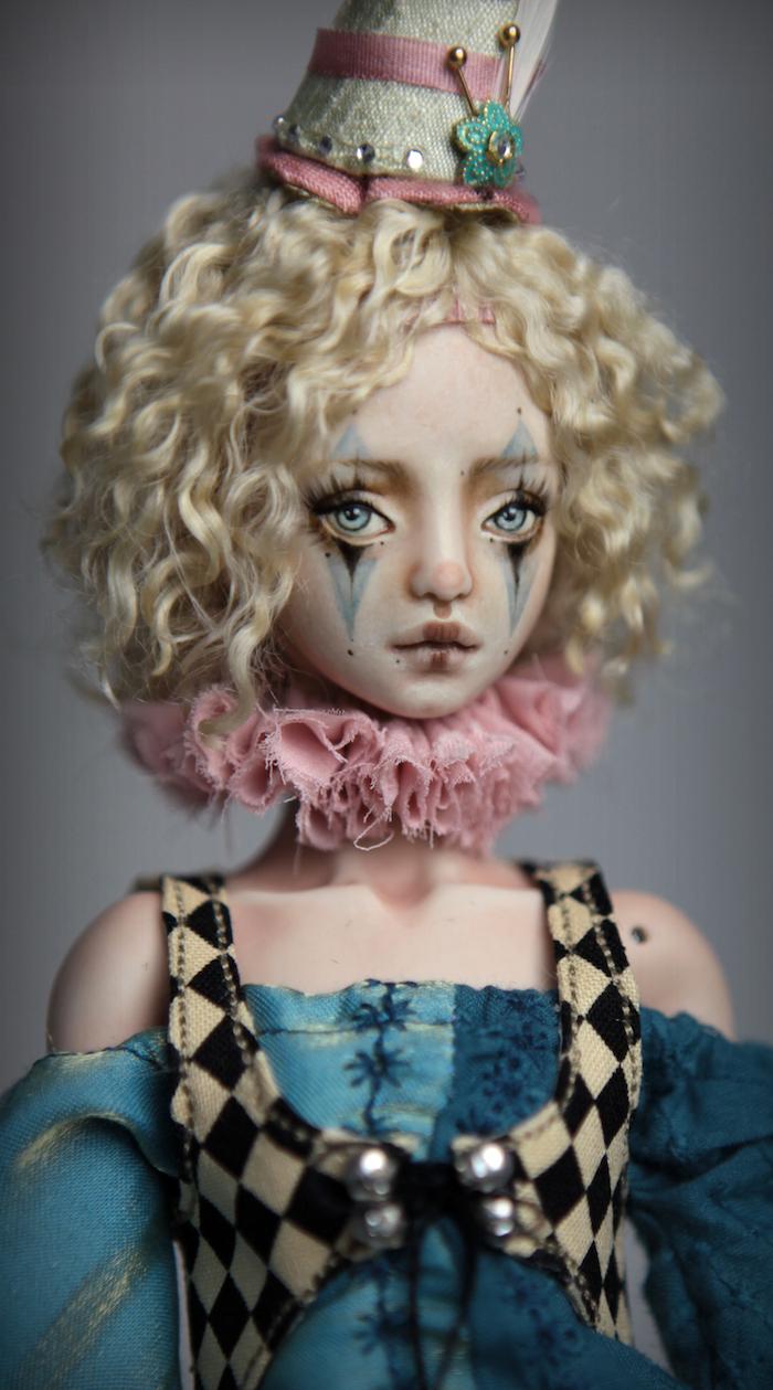 Clown Harlequin BJD Doll Ball Jointed Forgotten Hearts Party Hats Clown Hats FHDolls 63 15 Clown Harlequin Renaissance